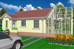 hazbovites-kis ház hozzáépítés terv
