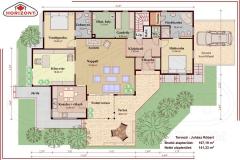 Könnyűszerkezetes családi ház alaprajz - Hidasi ház