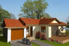 Könnyűszerkezetes családi ház látványterv - Somkúti 1