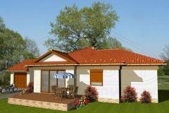 Könnyűszerkezetes családi ház látványterv - Somkúti 2